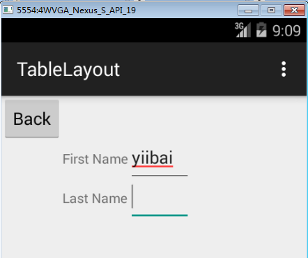 Android TableLayout