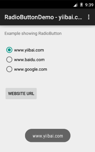Android RadioButton Control